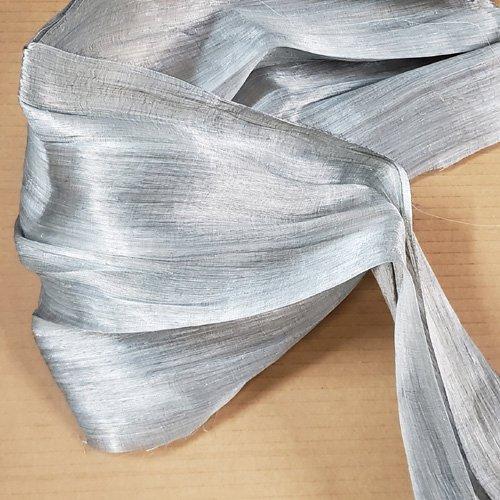 Abailk Abaca Silk Straw Grey Swatch