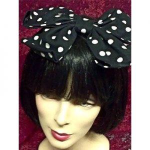 Black and White Polka Dot Vintage Bow Main