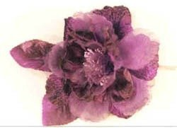 Blooming Purple Eggplant