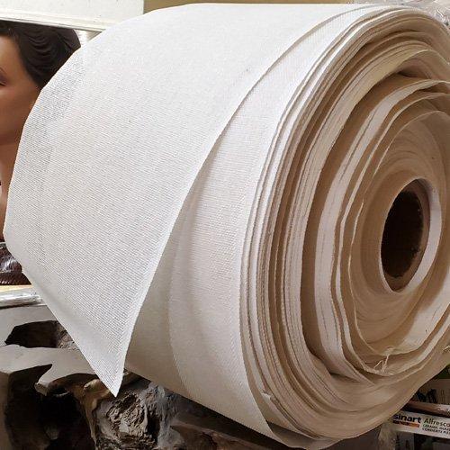Heavy Buckram Ribbon – White 10″ Wide