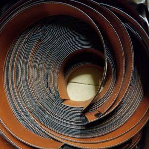 Calf Leather Sweatband Chestnut Swatch 2