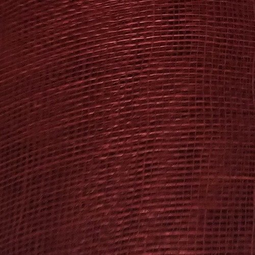 Sinamay Fabric Stiffened – Cherry Red 85