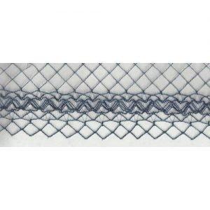 Chicken Wire Ornate Edge Navy 1
