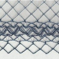 Chicken Wire Ornate Edge Navy Swatch