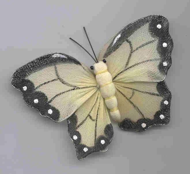 Cream Butterfly