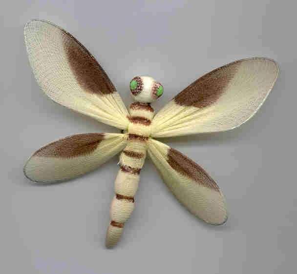 Hand Painted Organza Dragonflies & Butterflies