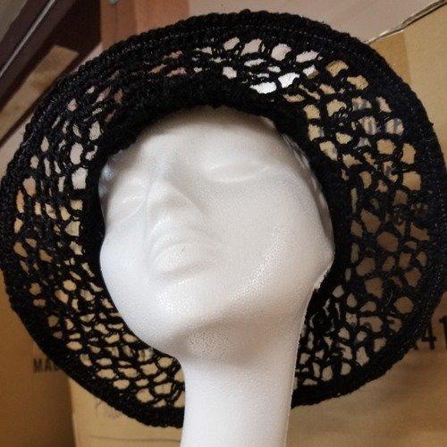 Crochet Jute Brim Black Swatch