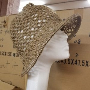 Crochet Jute Brim Natural Side