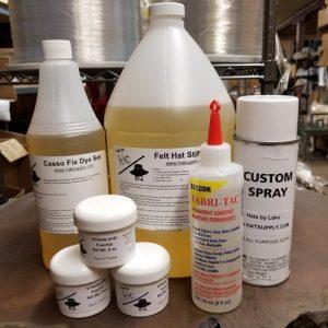Dyes, Stiffeners & Glue