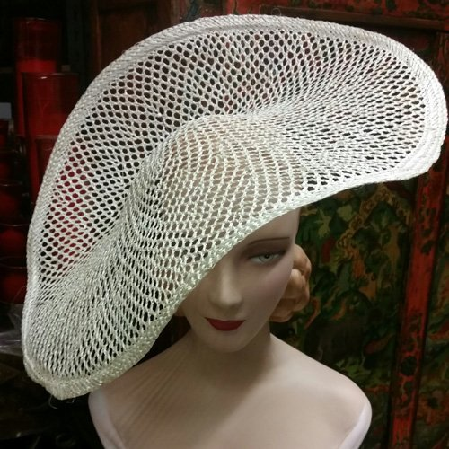 Flat Plate Open Weave Sisal Hat Body
