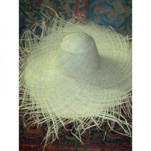 Fringe Raffia Woven Hat Body