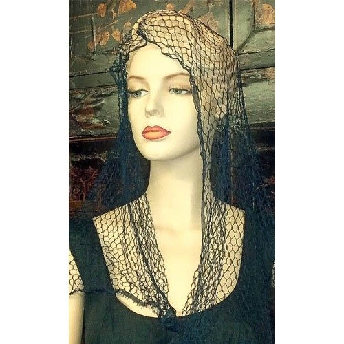 Large and Long Vintage Veiling