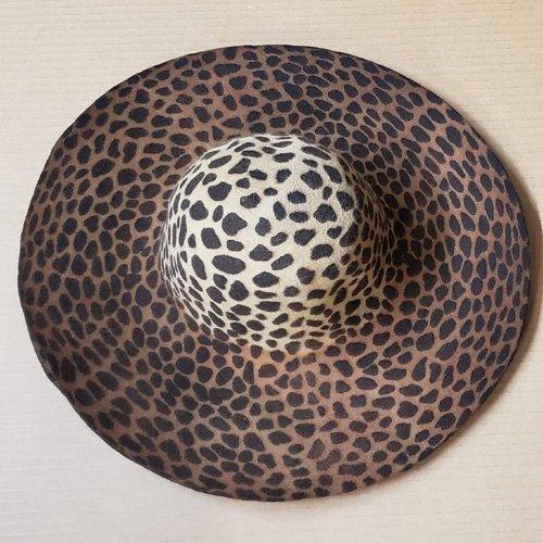 Wool Felt 5-6″ Capelines – Leopard