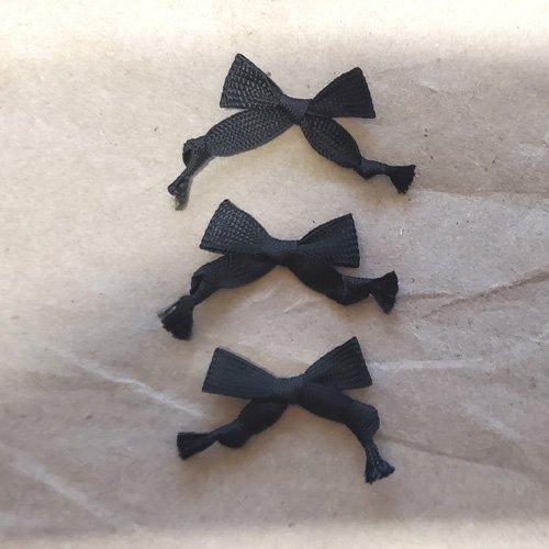 Fancy Triple Knot Hat Bows – Black 1-143 Pcs.