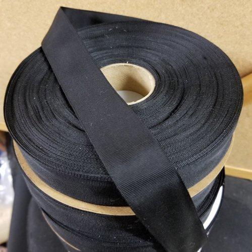 Mens Black Grosgrain Hat Band Ribbon
