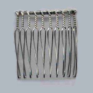 Nickel Plated Ten Tooth Wire Comb