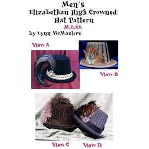 Men's Elizabethan High Crowned Hat