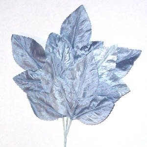 Polished Vintage Leaf Spray Pale Blue