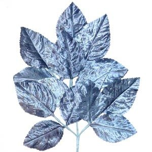 Polished Vintage Leaf Spray Steel Blue