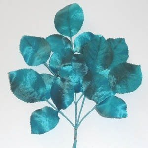 Polished Vintage Leaf Spray Turquoise