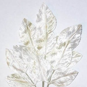 Polished Vintage Leaf Spray White
