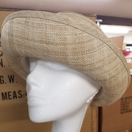 Raffia Ribbon Cloche 2 1/2″ Turned-up Brim