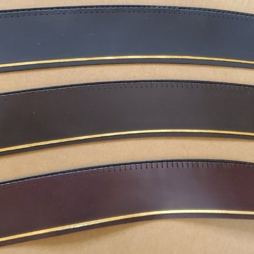 1 5/8″ Leather Reeded Sweatbands