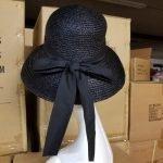 Sewn Raffia Braid Hat