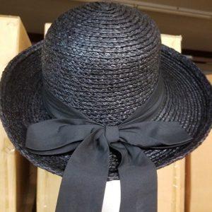 Sewn Raffia Braid Hat Brim Up