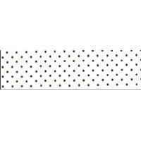 Size 2 White Black Polka Dots Swatch
