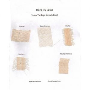Straw Yardage Swatch Card