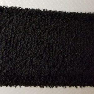 Terry Cloth Sweatband Swatch Black