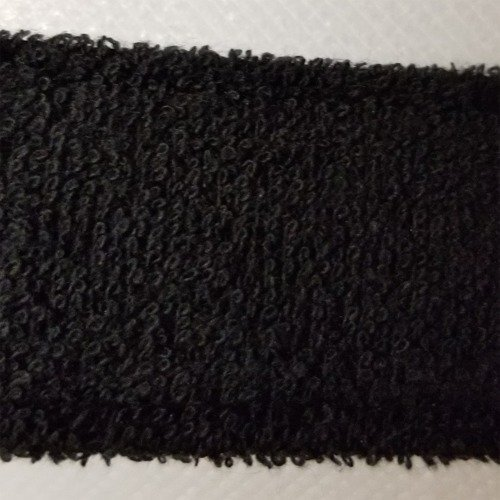 Terry Cloth Sweatband Swatch Black