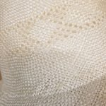 Sisal Capeline With Vented Crown And 5″ Brim