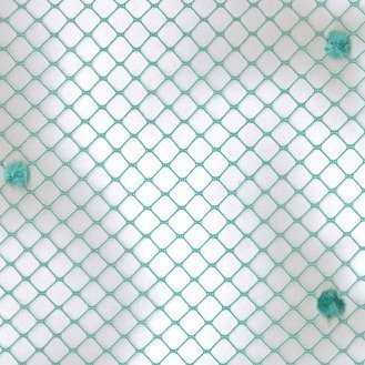 Vintage Chenille Dot 50519 Teal Swatch