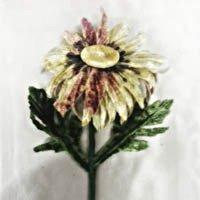 Vintage Daisy Mint Burgumdy