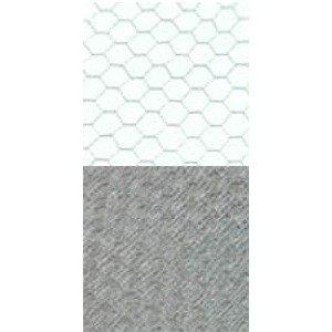 Vintage French 12 Hexagon Mini Grey