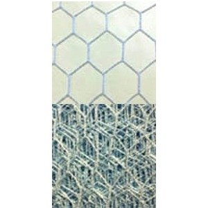 Vintage French 18 Hexagon Ice Blue