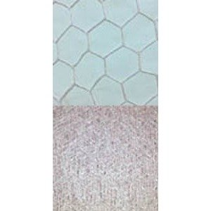 Vintage French 18 Hexagon Ice Pink