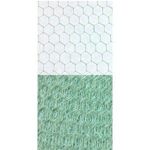 Vintage French Silk 18 Hexagon Aquamarine