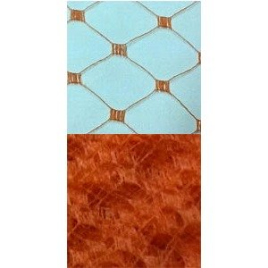 Vintage French Silk Diamond 12 Burnt Orange