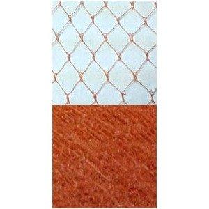 Vintage French Silk Diamond 12 Orange