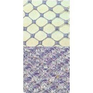 Vintage French Silk Diamond 18 Periwinkle