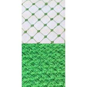 Vintage French Silk Diamond 18 Sparkling Green