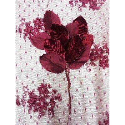 Vintage Silk And Velvet Leaves