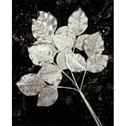 Vintage Satin Leaf Spray