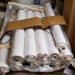 White Buckram 57 60 in 30 yd Rolls Main