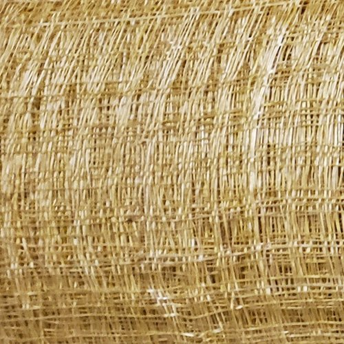 Window Pane Sinamay Straw Fabric – Orange
