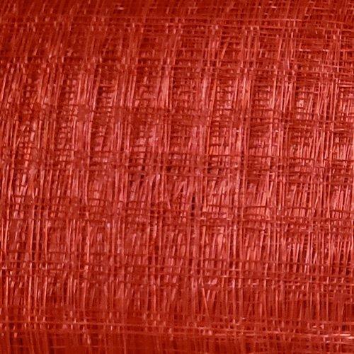 Window Pane Sinamay Straw Fabric – Red