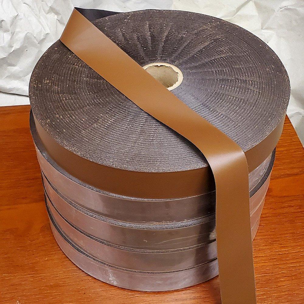 1-1/4″ Leather Sweatband Reeding Tape – Black Yardage